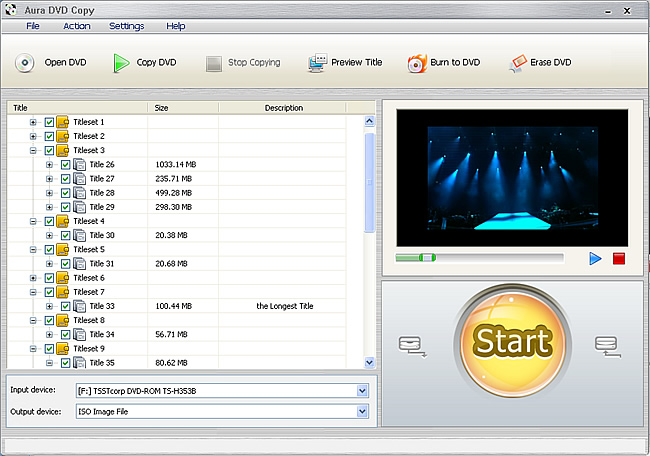 How to shrink DVD files with Aura DVD copying software