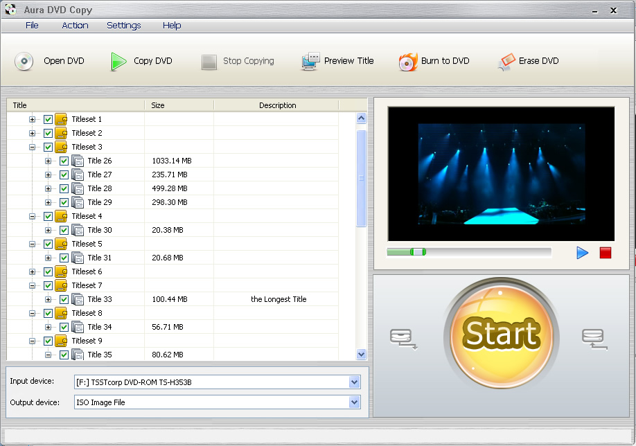DVD cloner software screenshot
