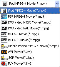 Convert between WMV, AVI, MPEG, FLV, 3GP video formats.