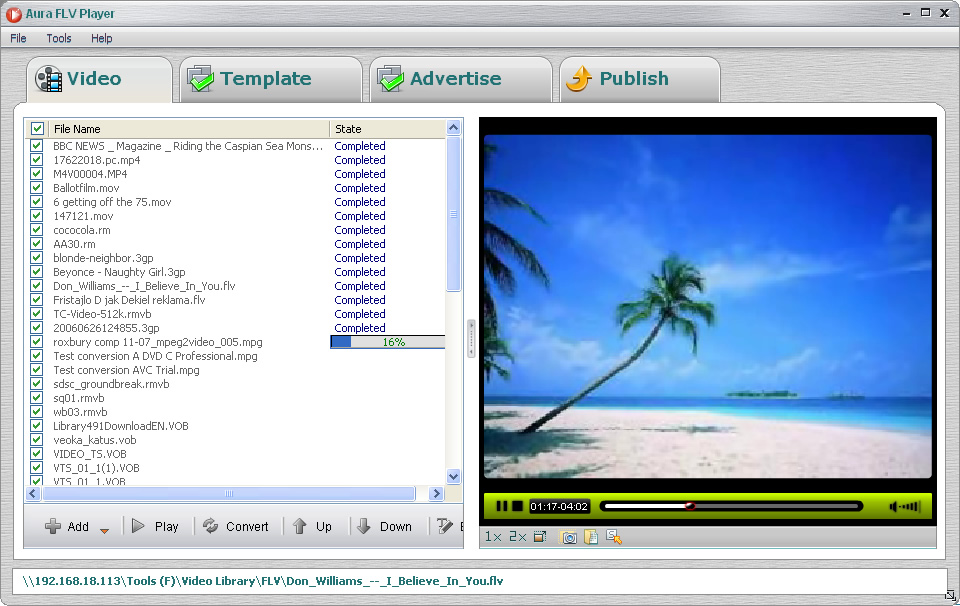 Add FLV and other videos to the FLV player