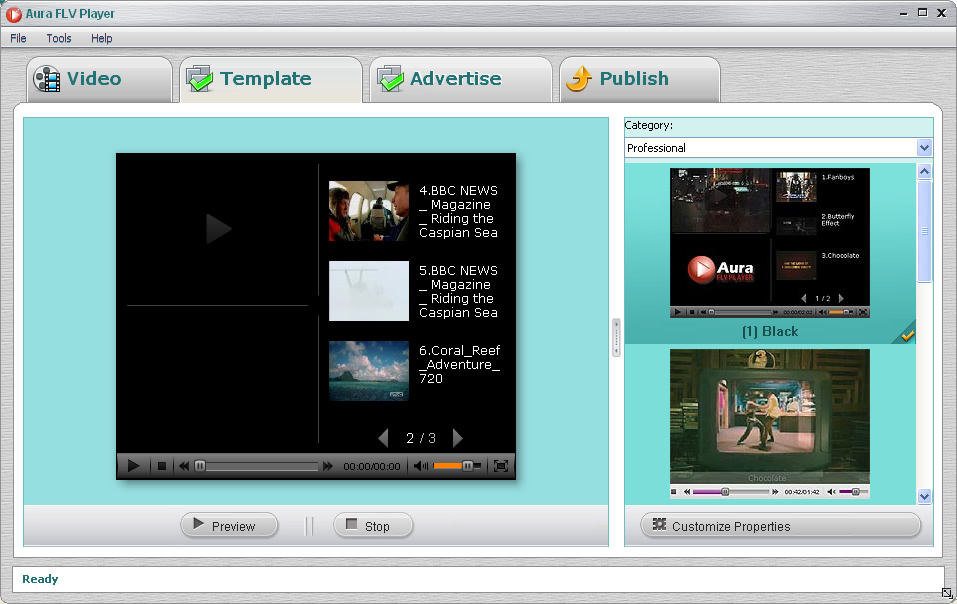 Free FLV player software