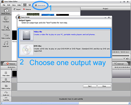 Convert WMV to video or DVD