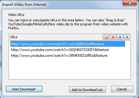 Start the YouTube to iPhone 5 Downloader and Import YouTube videos